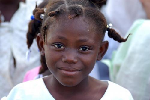 Haitian girl smiling